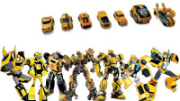 变形金刚7辆不同系列可爱的大黄蜂机器人变形玩具