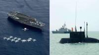 紧急情报,卫星发现目标:美航母误入死亡海域,伊朗潜艇全体出动
