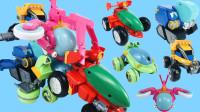 超大超酷的猪猪侠恐龙日记之时光飞船五合体变形玩具