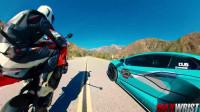 你不会相信的!兰博基尼对战超级摩托车