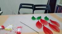 创意手工:丝网花之大丽花,丝网花教程