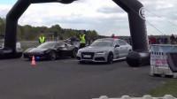 奥迪RS7一路秒杀所有车,GTR不服气,场面相当震撼
