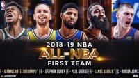 NBA最佳阵容公布,字母哥、哈登领衔,库里紧随其后