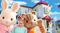 你好森贝儿家族♥ 探访在日本的福冈森贝儿花园 灯光大屋-基尼