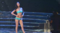 东京国际模特大赛泳装走秀,长发模特,气场十足!