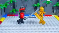 定格动画-乐高城市故事之幻影忍者VS骨头兵室内游戏对决
