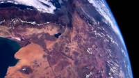 在太空观看到地球的陆地,真是太壮观了