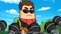 搞笑吃鸡动画:大魔王好嚣张,射击比赛打错靶子,说他只会打人不会打靶!
