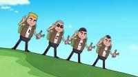 搞笑吃鸡动画:酱油兄弟翻身农奴把歌唱,瓦特死得好惨,这仇必须报