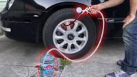老外脑洞大开,将轮胎里面灌满水,汽车还能行驶吗?