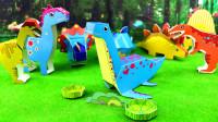 侏罗纪恐龙3D立体拼图,益智手工DIY漂亮的鳗龙