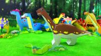 动手又动脑的恐龙玩具,益智手工DIY蜿龙!