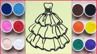 创意手工沙画:一起制作梦幻耀眼的公主裙,小朋友们特别喜欢!