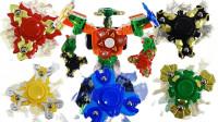 陀螺系列机器人玩具拆箱
