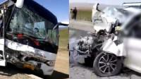 青海一面包车与大巴相撞 致面包车内6人全部遇难