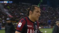 第43分钟博洛尼亚球员桑坦德进球 博洛尼亚1-0那不勒斯