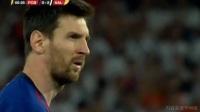 梅西主罚任意球再开八倍镜 皮球击中人墙高出球门