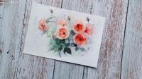 水彩临摹花卉~兴趣是最好的老师~