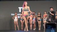 台湾模特大赛泳装秀,女神级模特展示完美身材!