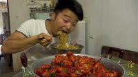 5斤龙虾1盆面,大sao做5斤麻辣小龙虾,配大蒜一人吃一锅,真过瘾
