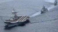巴铁新型导弹急速腾空!印航母火光冲天,数十艘军舰保护航母逃离