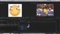 PR教程02 视频剪辑扩展,多次剪辑、声音调整,加速减速,表情图片相关