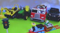 儿童趣味托马斯小火车玩具、遥控拖拉机玩具和挖掘机玩具
