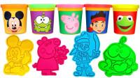 米奇小猪佩奇杰克惊喜娃娃小印章儿童玩具,萌宝学习认识颜色啦!