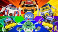 救援玩具变形警车珀利紧急出发 亲子玩具开箱视频