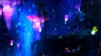 紫色大气时尚婚礼舞台背景合成LED
