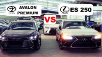 19款丰田亚洲龙和19款雷克萨斯ES250实车对比,看后选哪款自己定