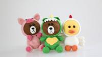 毛儿手作-变装布朗熊玩偶小鸡款新手视频教程
