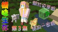 【媛媛】我的世界:媛味生存 EP3关於史莱姆猫狗一家亲