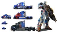 6款特大和特小号的变形金刚擎天柱机器人变形玩具展示