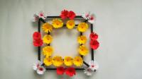 DIY纸花壁挂的方法,学习起来很简单,不仅美观还很有创意!