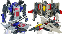 变形金刚大黄蜂VS反弹球闪电战机器人变形玩具开箱