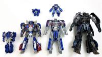 变形金刚MINI版和超大号擎天柱最后的骑士机器人变形玩具视频