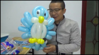 想学习蓝色小鸟气球制作吗?我教你