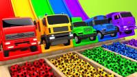 超有趣!这么多不同颜色的小汽车你都认识吗?2分钟学会5种颜色!趣味儿童玩具游戏故事