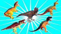 恐龙玩具机认识彩色小恐龙腕龙翼龙