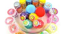学习颜色把所有的橡皮泥史莱姆玩具开箱混合在一起