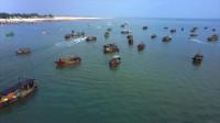 中国广西,航拍北海银滩!