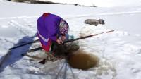 野外生活 极寒冬季 冰钓 日常
