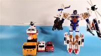 2款Hello Carbot韩国变形金刚8合一组合机器人变形玩具
