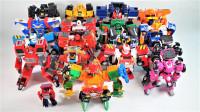 18辆各种变形金刚机变英盟和Tobot机器人赛车机甲变形玩具