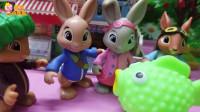 比得兔玩具故事:楞果子的大鱼玩偶,喜欢吗