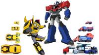 变形金刚动漫版多款擎天柱和大黄蜂机器人变形玩具
