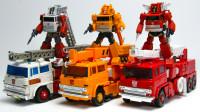 变形金刚G1动漫版3款火灾紧急救援机器人变形玩具