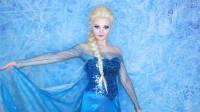 国外时尚美妆:小姐姐把自己美妆打扮成冰雪女王,真是太漂亮了