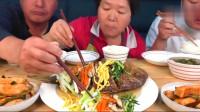 《韩国农村美食》韩国大妈做了这么大一条鱼,看得我流口水